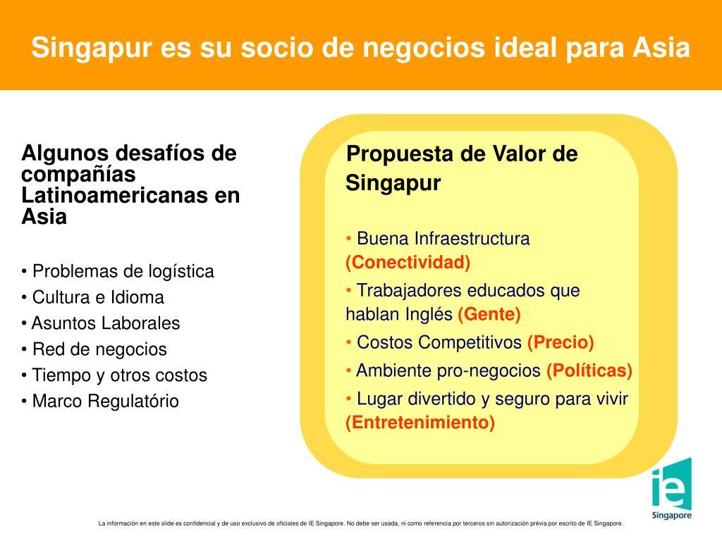 Singapur es su socio de negocios ideal para Asia