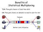 benefits of statistical multiplexing