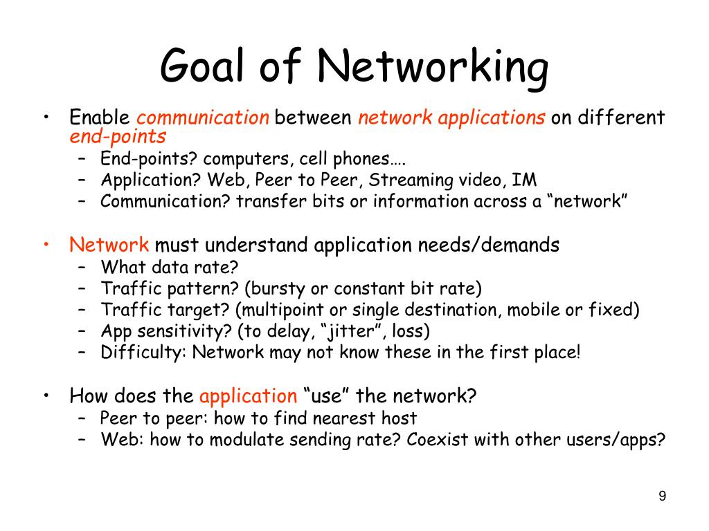 Goal of Networking