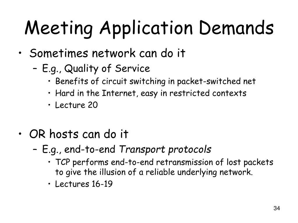 Meeting Application Demands