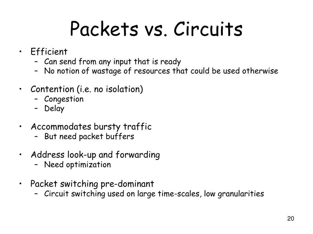 Packets vs. Circuits