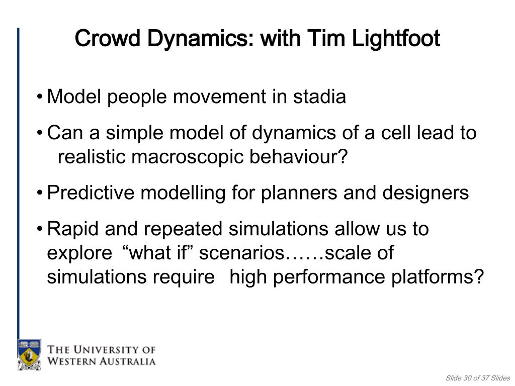 Crowd Dynamics: with Tim Lightfoot