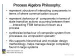 process algebra philosophy