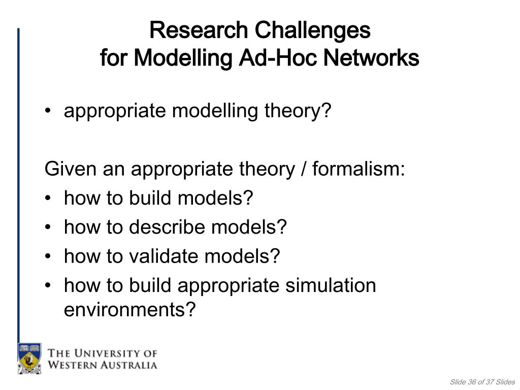 appropriate modelling theory?