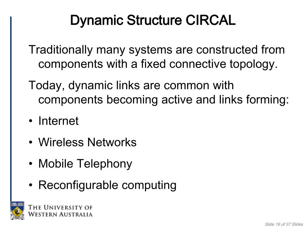 Dynamic Structure CIRCAL