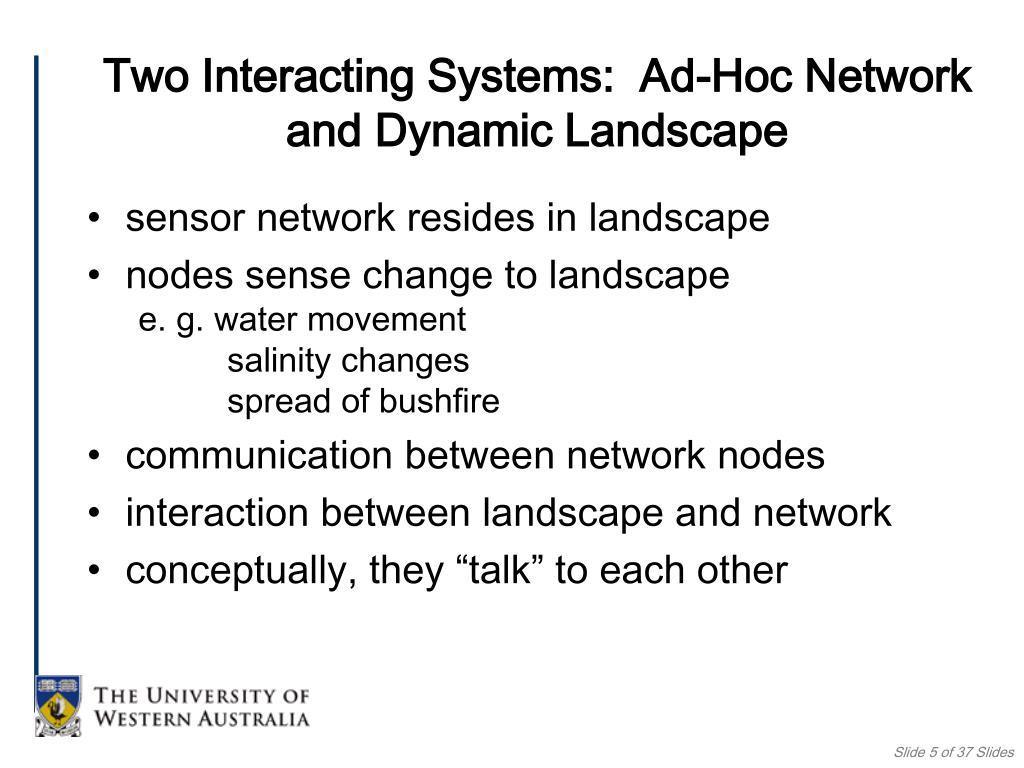 sensor network resides in landscape