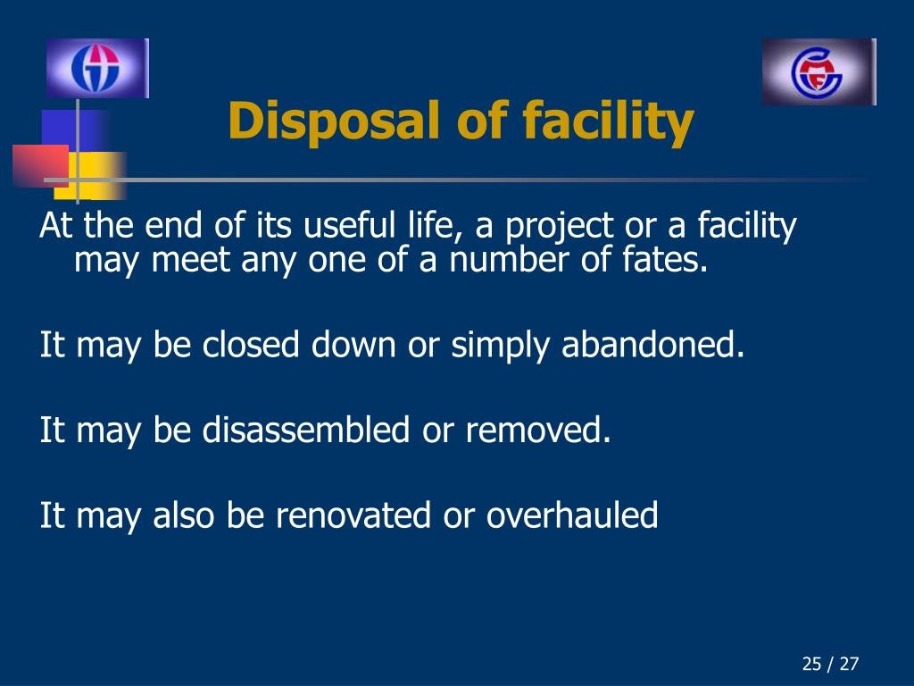 Disposal of facility