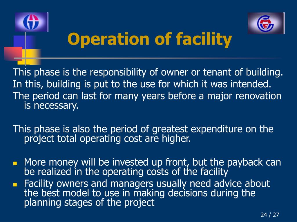 Operation of facility