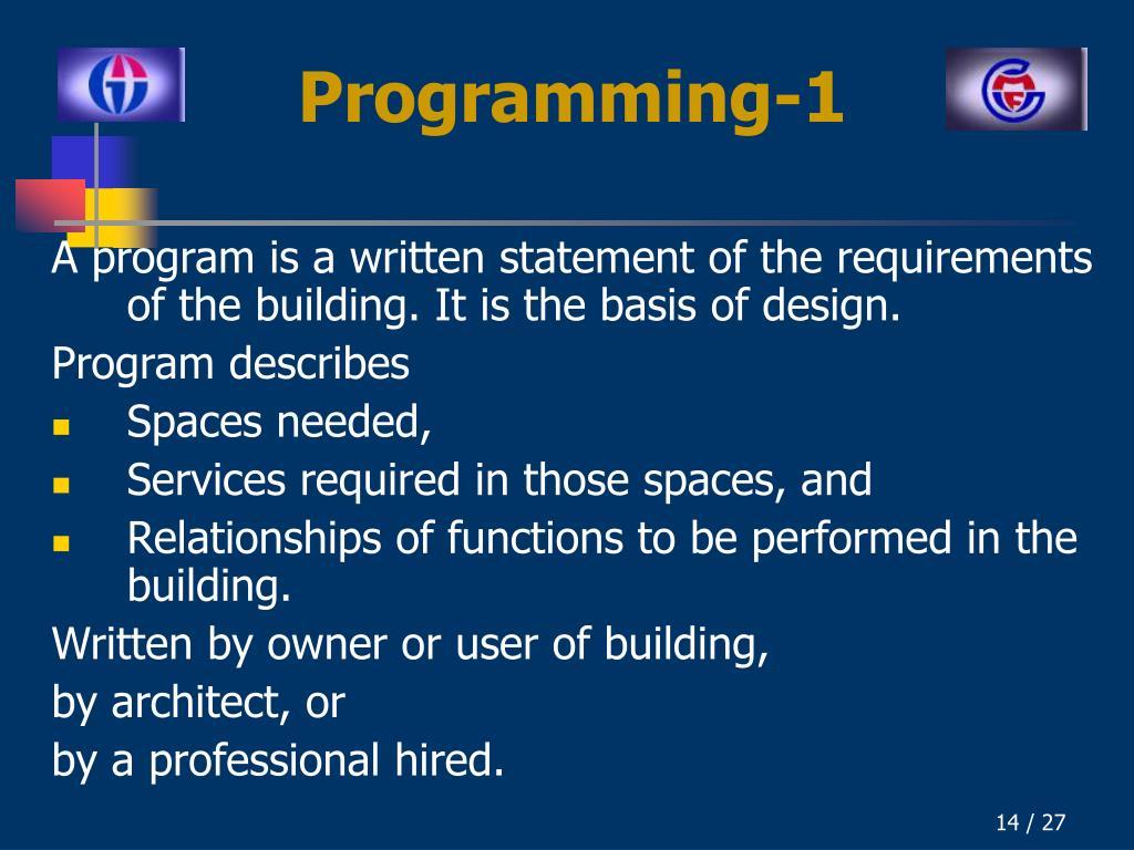 Programming-1