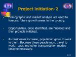 project initiation 2