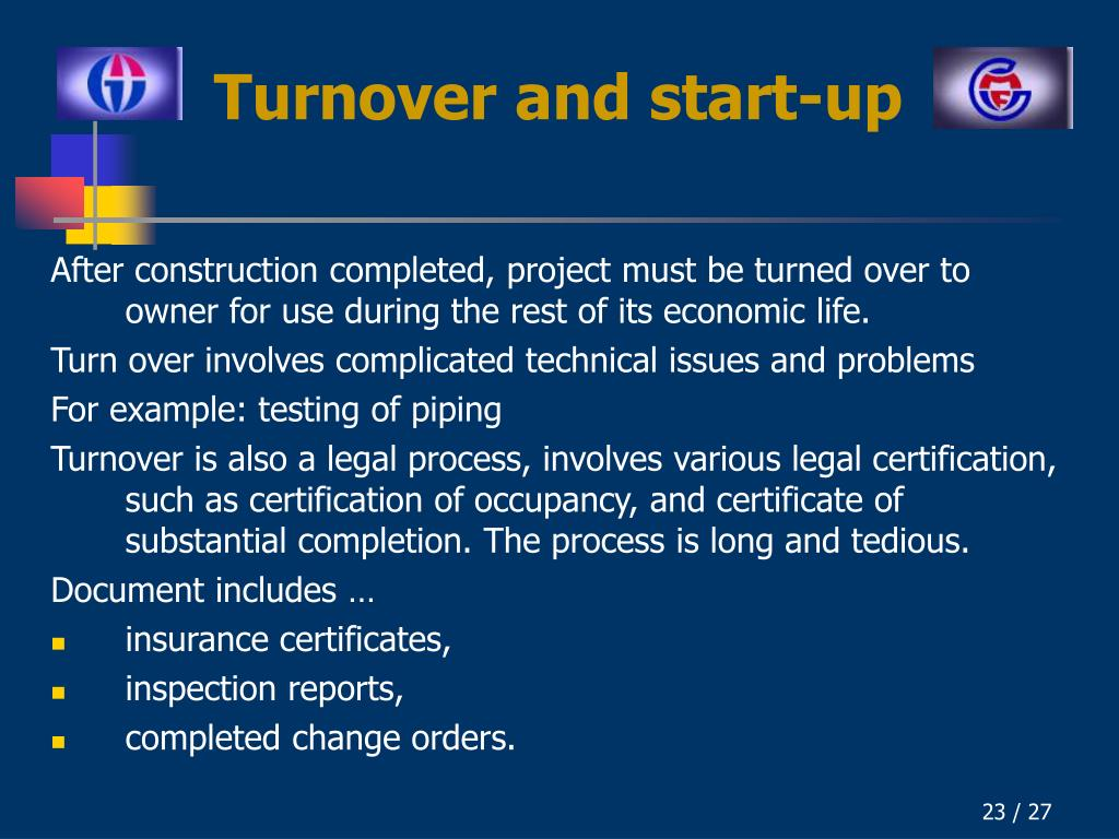 Turnover and start