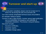 turnover and start up