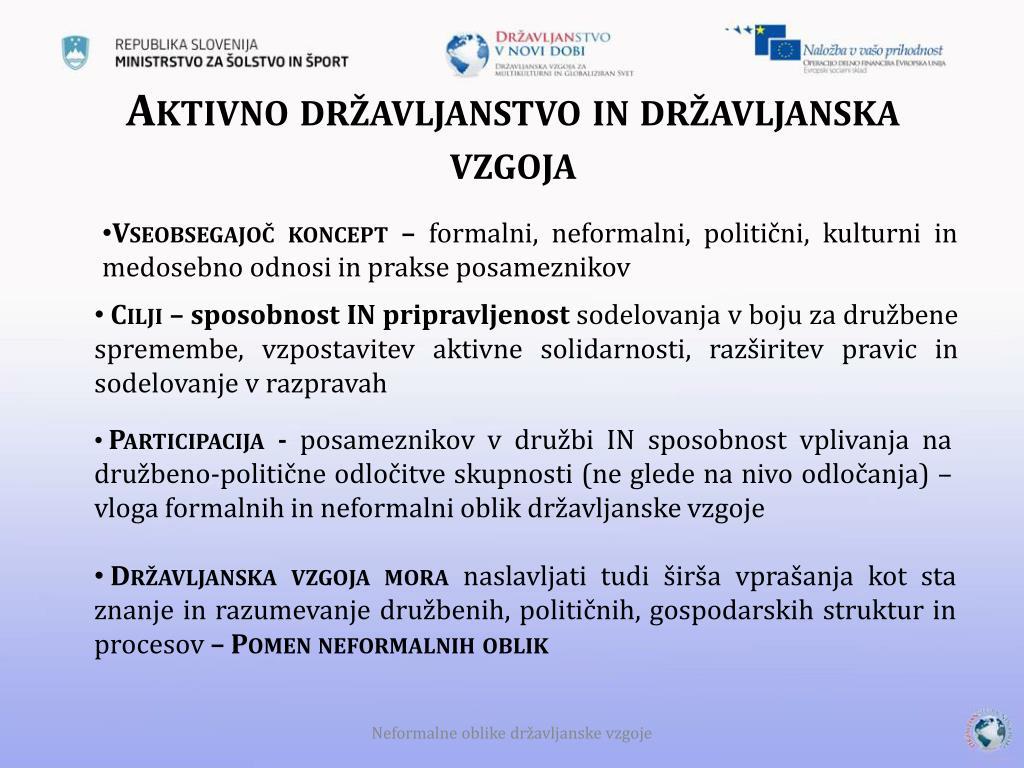 Aktivno državljanstvo in državljanska vzgoja