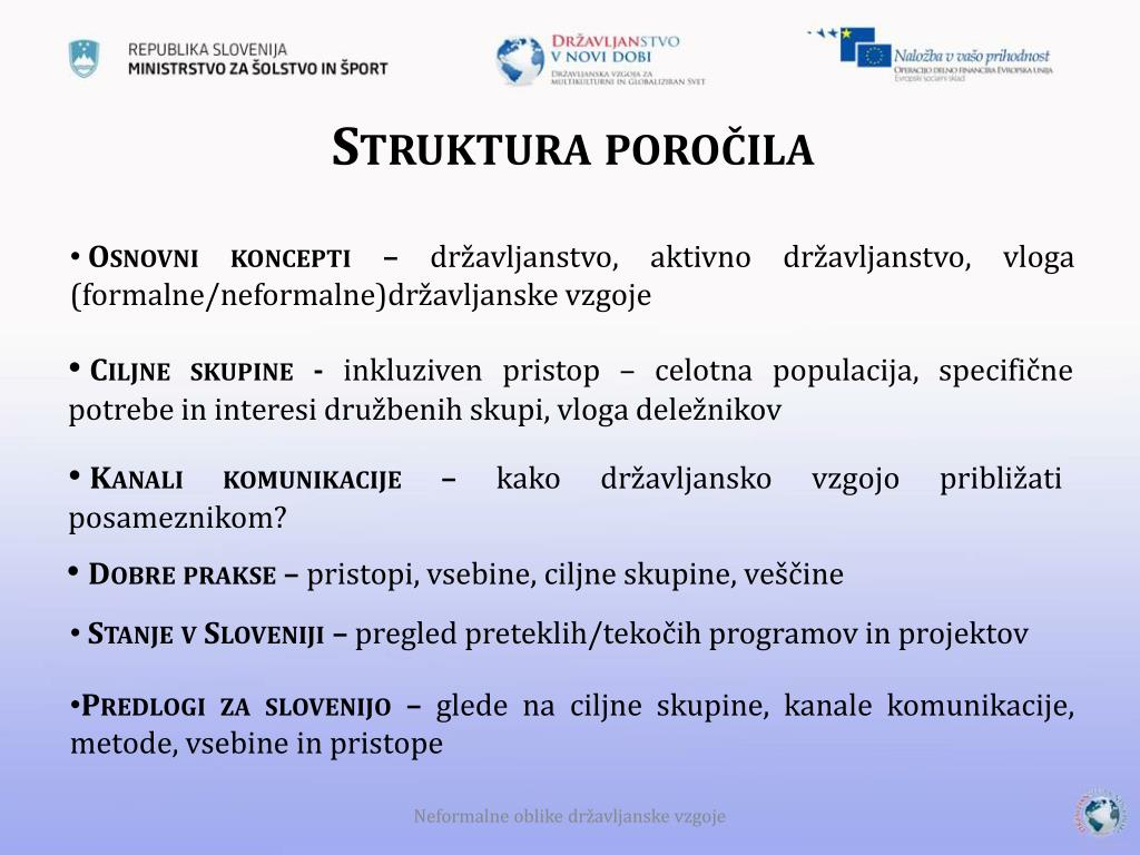 Struktura poročila