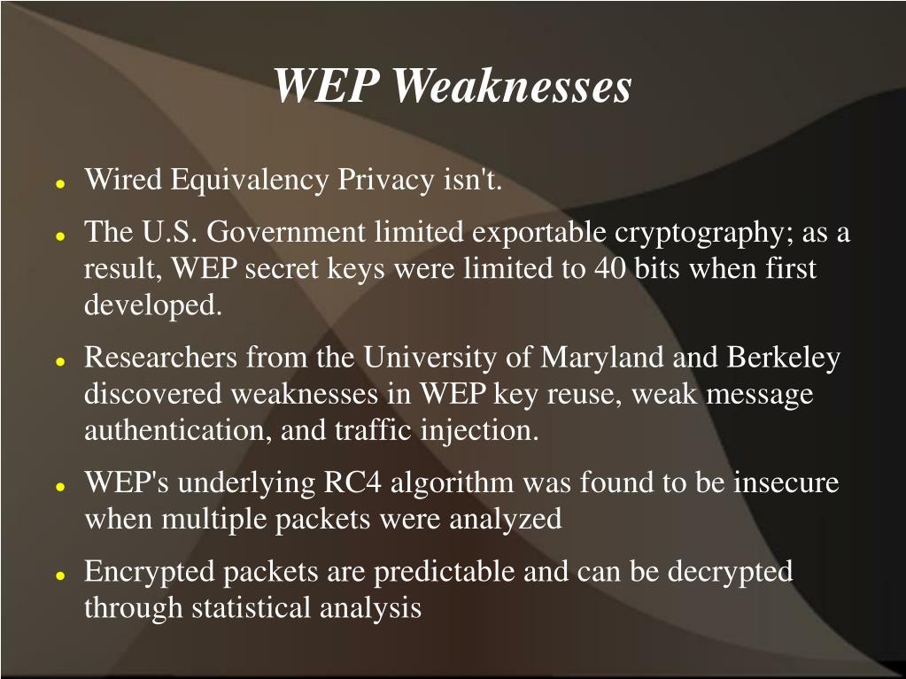WEP Weaknesses