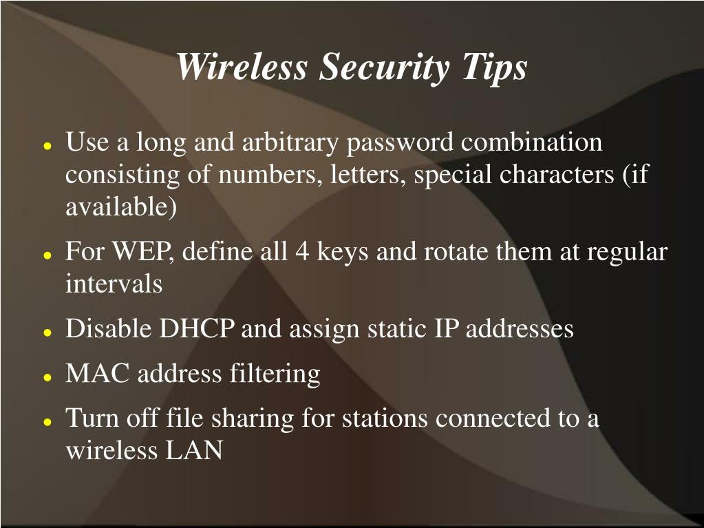 Wireless Security Tips