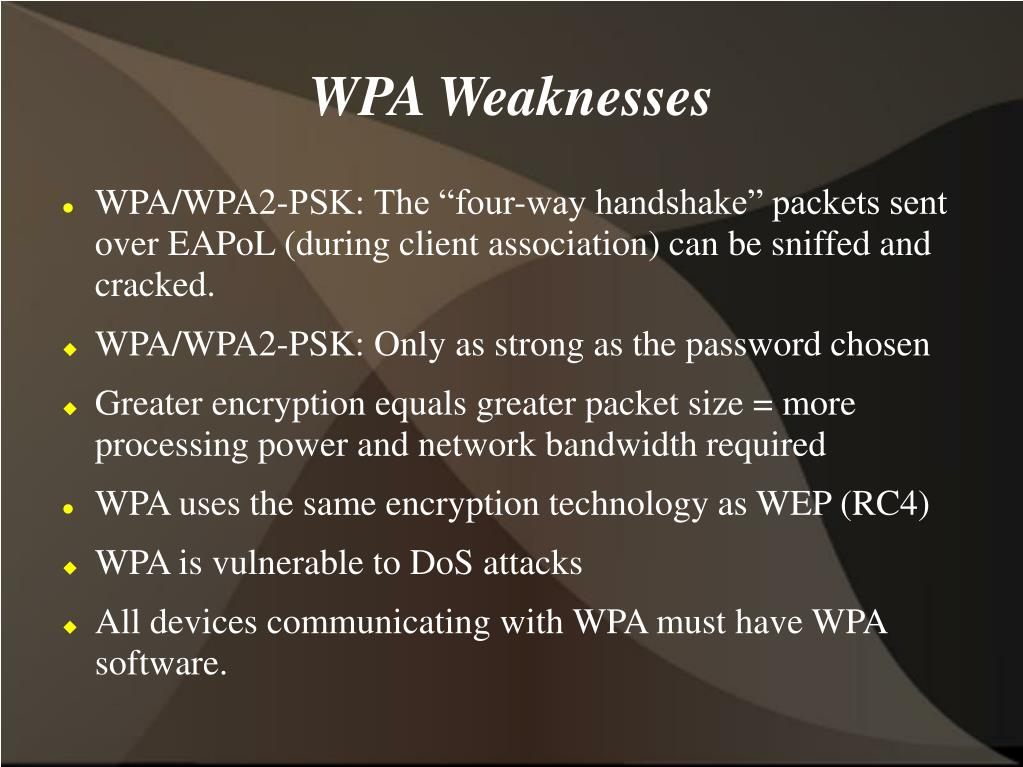 WPA Weaknesses