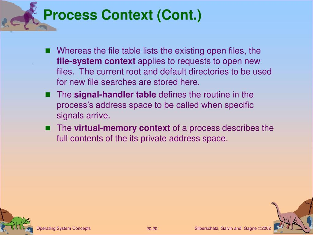 Process Context (Cont.)