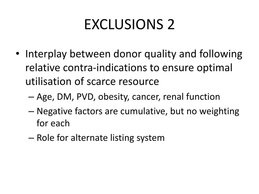 EXCLUSIONS 2