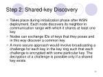 step 2 shared key discovery