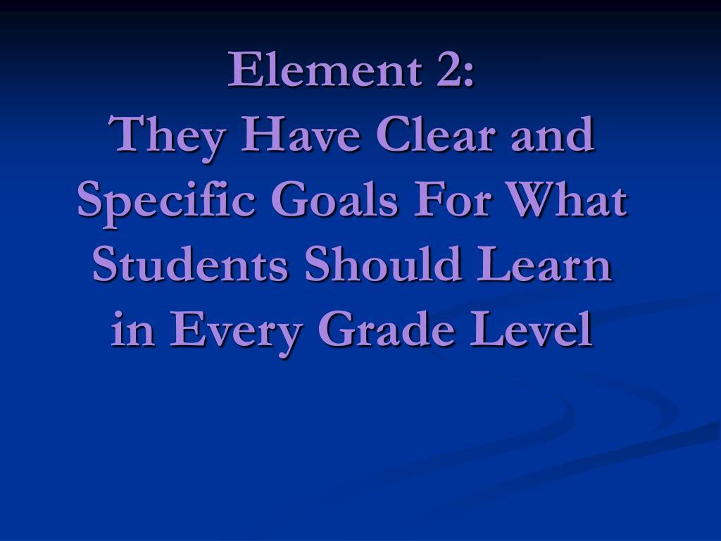 Element 2: