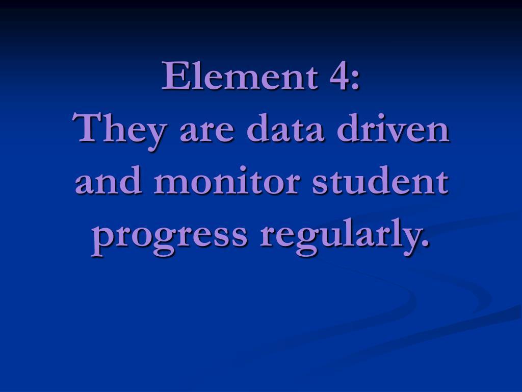 Element 4: