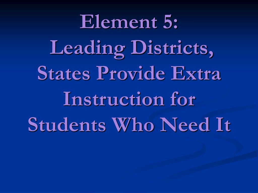 Element 5: