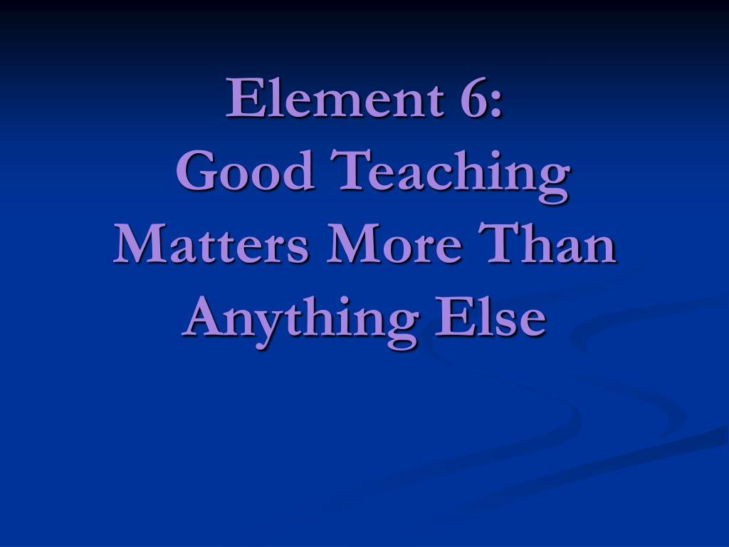 Element 6:
