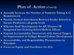 plan of action cont d