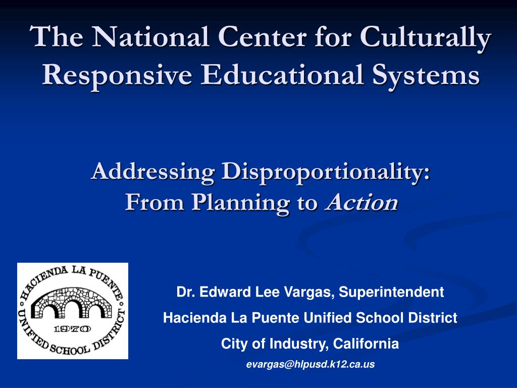 The National Center for Culturally Responsive Educational Systems