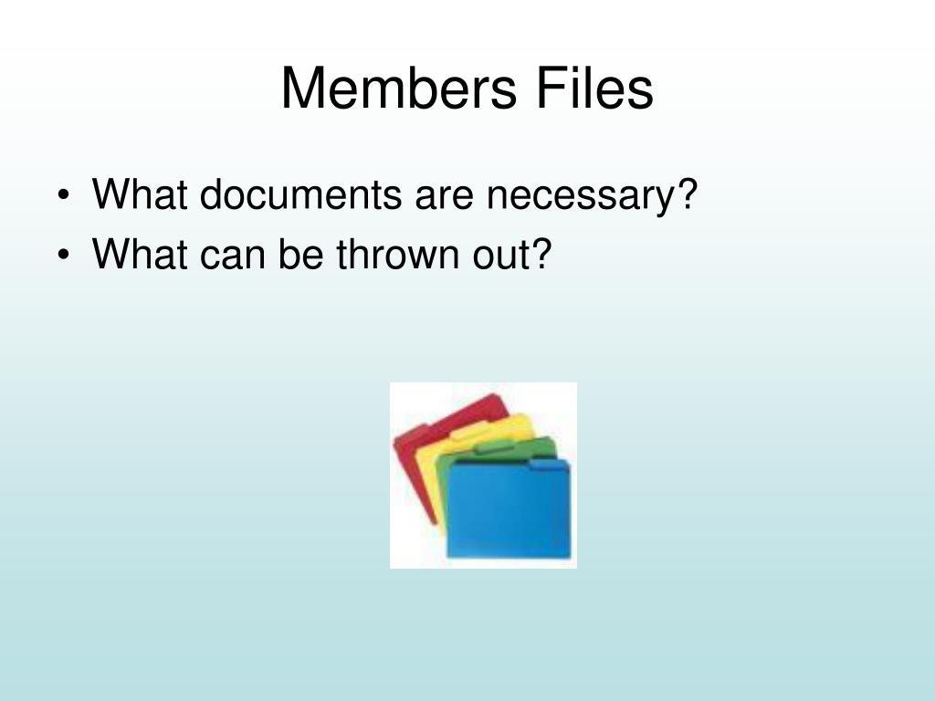 Members Files