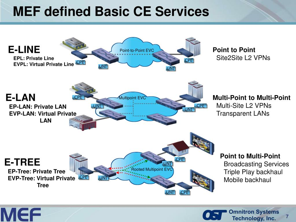 MEF defined Basic CE Services