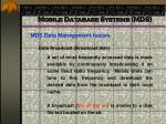 mobile database systems mds53