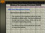 mobile database systems mds54