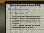 mobile database systems mds58