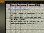 mobile database systems mds70