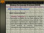 mobile database systems mds71