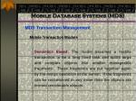 mobile database systems mds74