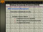 mobile database systems mds84