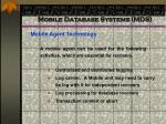 mobile database systems mds89
