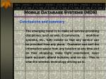mobile database systems mds92