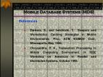 mobile database systems mds94