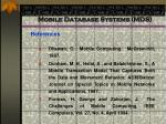 mobile database systems mds95