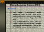 mobile database systems mds97