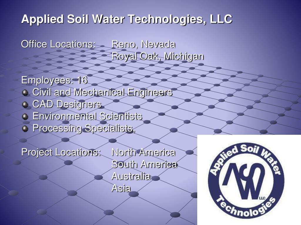 Applied Soil Water Technologies, LLC