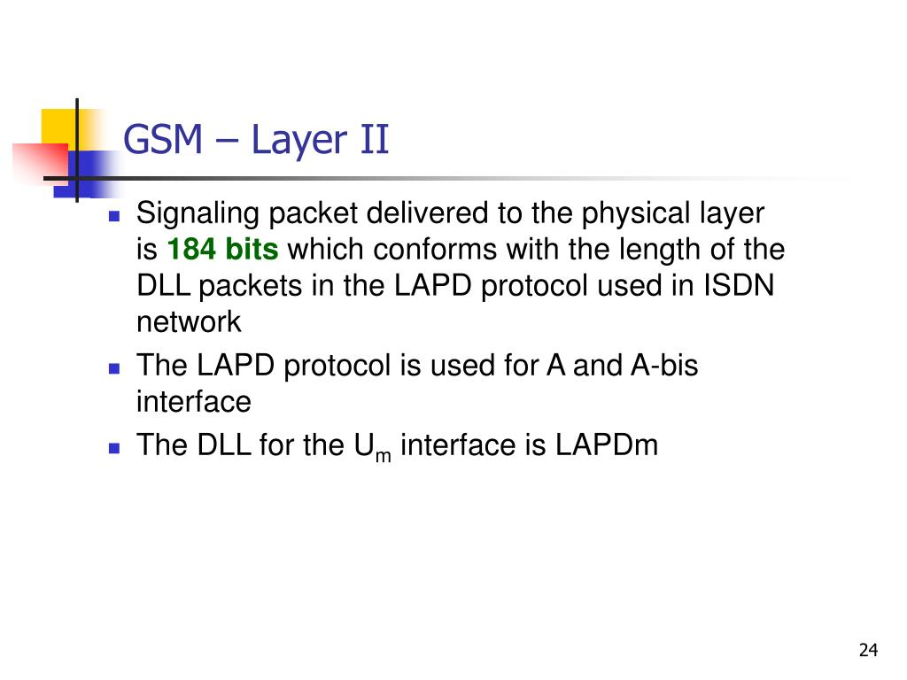 GSM – Layer II