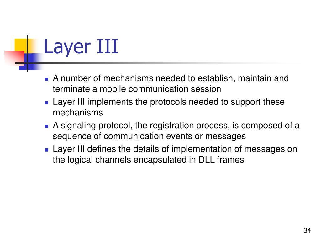 Layer III