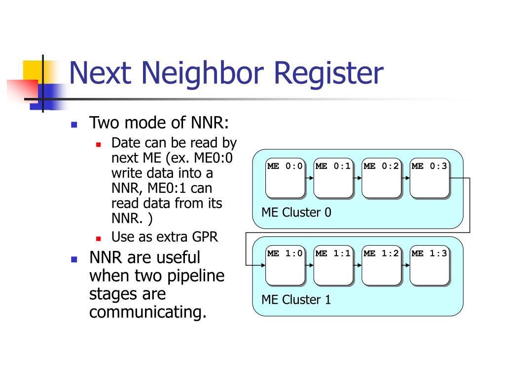 Next Neighbor Register
