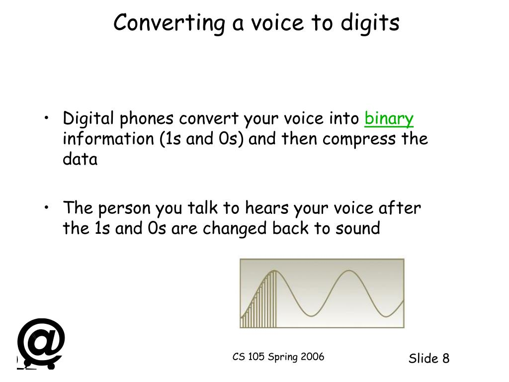 Converting a voice to digits