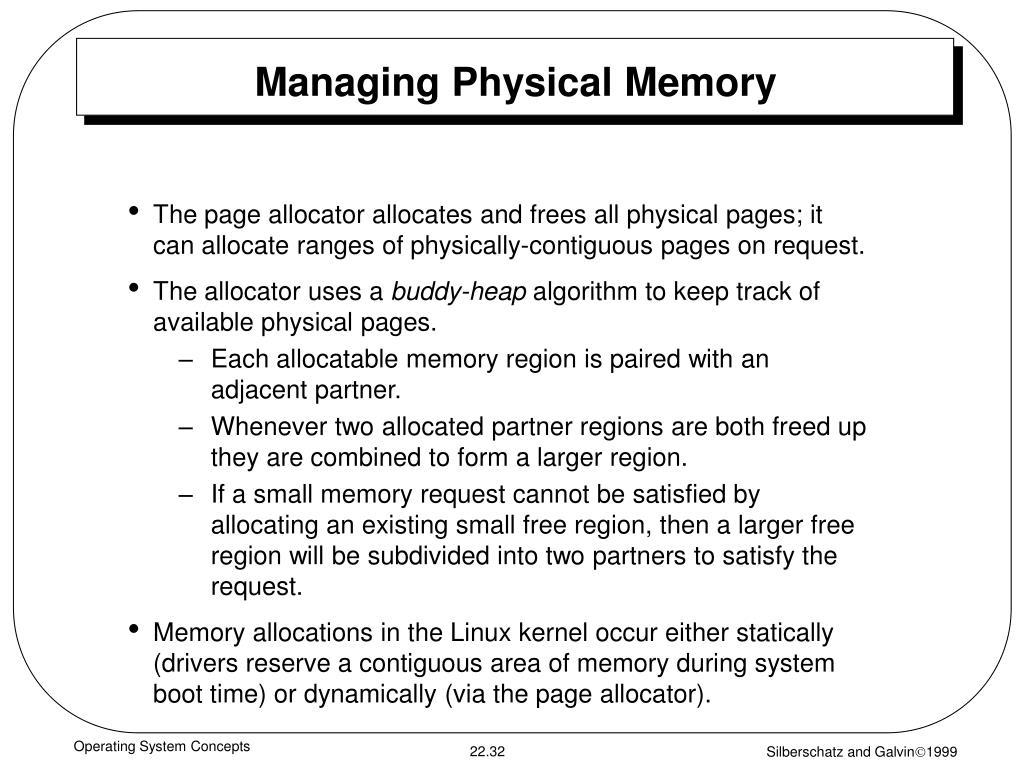 Managing Physical Memory